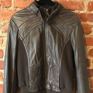 IDRA brown leather jacket size small.